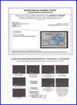 150917. ORPHELINS N°155. Montré en expertise. Certificat CALVES