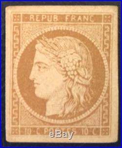 1850 Type Ceres Y&t N° 1 Signe Cote 2850