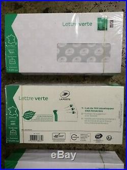 3 Lots de 100 enveloppes Prêt à poster Lettre verte 20g
