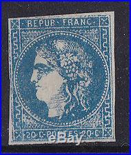 A210france 1870. N°46b'faux De Marseille' Neuf X Et Tb. 550 A210