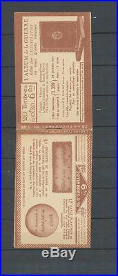 ALGERIE CARNET, 30c. Semeuse, S. 100, guerre/Blanchon, NON Perforé en haut X4061