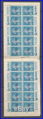 ALGERIE CARNET, 30c. Semeuse bleu, S. 100, guerre/Blanchon Perforé en haut X4062