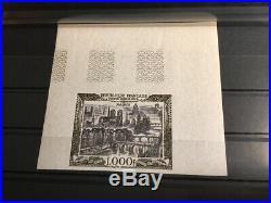 AVO! 1125 FRANCE non dentelé imperf timbre PA 29 poste aérienne Decaris Paris