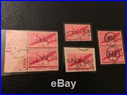 AVO! 1486 FRANCE timbres poste aérienne militaire variétés double tête bêche