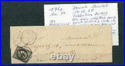 À VOS OFFRES! 127 CERES lettre timbre n°3 4 janvier 1849 collection Dubus