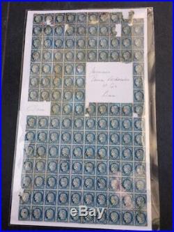 À VOS OFFRES! 301 FRANCE bloc de 136 timbres Yvert n°60 C oblitération ancre
