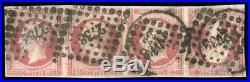 À VOS OFFRES! 317 FRANCE timbre n°17B bande de 4 tête-bêche certificat Calves
