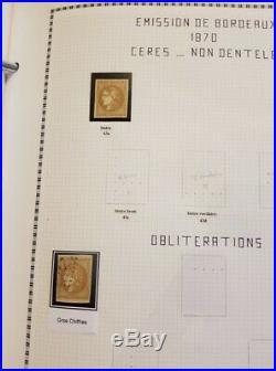 À VOS OFFRES! 49 collection timbres et lettres classiques dt n°2 Bordeaux