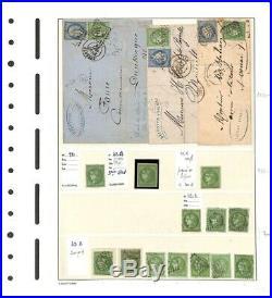 À VOS OFFRES! 555 collection timbres Émission Bordeaux 42 dt lettres 1871