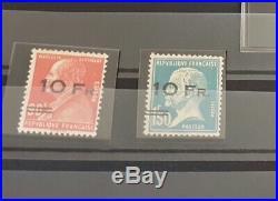 À VOS OFFRES! 9 FRANCE timbres PA 3 + PA 4  bon centrage certificat RR