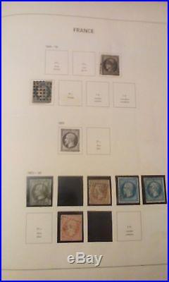 Album timbres France de 1849 à 1959 oblitérés, neufs neufs