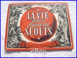 Ancien Album la vie fière et joyeuse des scouts 1957 Très Rare, très bon état
