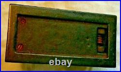 Ancienne pince à gaufrer le papier ou timbre sec, art nouveau, motif armoirie