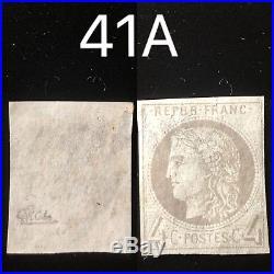 Athentique Bordeaux N°41a Neuf Gomme Sans Charniere Cote 2750 Signe Calves