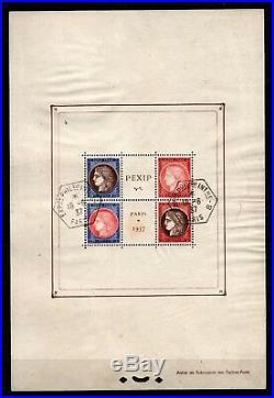 BLOC PEXIP de 1937, Oblitéré = Cote 400 / Lot Timbres France Bloc n°3