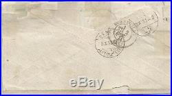Bordeaux 4c+1c N°60 Lettre Cover Gc 3646 St Gervais Les Bains 1871 To Suisse