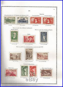 Belle Collection de timbres France obliterés
