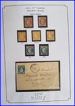 Belle collection des timbres Cérès IIIème république avec colonies générales