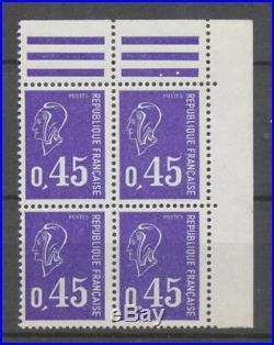Béquet N° 1665n, 0.45 VIOLET, TIRAGE SPECIAL, NON EMIS, Bloc de 4 X4531