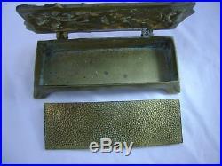 Boite à timbres en bronze époque Art Nouveau