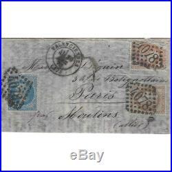 Boule de Moulins pli de Valenciennes 30 décembre 1870 pour Paris, SUP. R