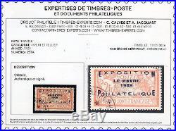 C015 France(488)TTB N°257A OB signé +certif. Tbien centré! (3 scans recto verso)