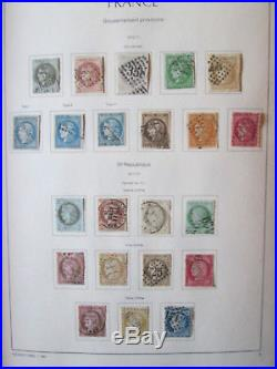 COLLECTION FRANCE OBL 1849/2000 TRES FORTE COTE (rousseur bf 1/2)