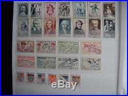 COLLECTION TIMBRES FRANCE 1950 A 1959 NEUF dans album NEUF
