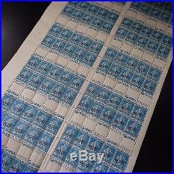 Carnet N°217-c 1 Feuille Sheet De 120 Non Émis Avec Pub Gibbs Cote 1600 Rare