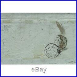 Cérès non dentelé N°6 oblitéré PC 2069 sur lettre de Montbéliard 1852, SUP. R