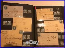 Classiques Collection Accumulation Lot Timbres Obliteres Et Lettres Cote 5500