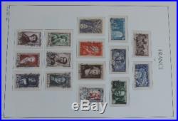 Collection de 3846 timbres de france- majorité oblitérés, quelques  et