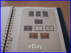 Collection de timbres france de 1849 à 1979 dans cinq albums lindner
