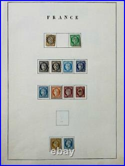 Collection timbres classiques / présentation manuscrite dt n°1à6,9,33, bordeaux, 6