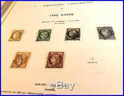 Collection timbres de France 1849 à 1945 dt n°1à6, 33, caisses, orphelins, PEXIP