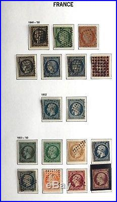 Collection timbres de France 1849 à 1955 OBL/ dont n°2,5,6,18, bordeaux, 257A, ++