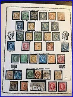 Collection timbres de France 1849 à 1960 dt n°1à6, classiques, BF1,2,3, SM++++