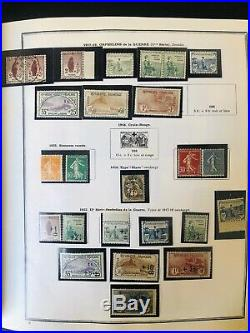 Collection timbres de France 1849 à 1980 dt bonnes/très bonnes valeurs obl. &neuf