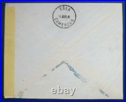 Colonies Cameroun N°245/246 (spitfire) Sur Lettre Signée Calves Superbe