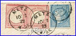 Deutsches Reich Frankreich MiF Brief Metz Paris 1872