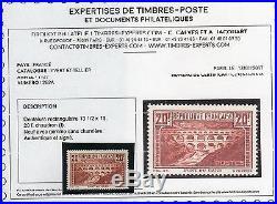 E637. FRANCE(037) TTB N°262A N signé +certif. (Scans recto verso) cote 575
