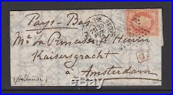 Empire n°31 sur lettre par Ballon Monté pour les Pays-Bas, cert Roumet, TTB