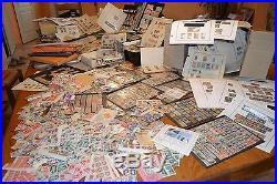 Enorme vrac france classiques colonies fdc bloc lettres 28,5 kilos a trier