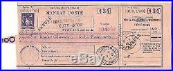 Entier. Mandat Poste type Sage. Annulé. Dijon, obl. 1946
