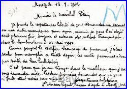 Entier Postal En Recommande Adresse Au Marechal Petain Vichy Rare