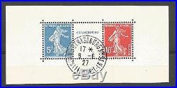 Expo Philatélique 1927. Paire avec intervalle N° 242A. OBL