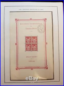Exposition philatélique de 1925 Bloc N°1 avec cachet exposition hors timbres