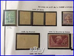 FIN DANNÉE LOT 258 collection timbres caisse amortissement monuments 262B