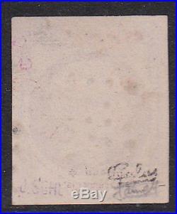 FRANCE1853. N°18a, 1FR CARMIN FONCE OBLITERE ET TB. 4500 I140