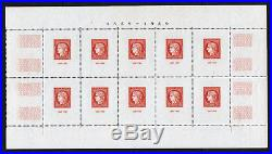 FRANCE BLOC FEUILLET 5 CENTENAIRE TIMBRE CITEX 1949 PARIS NEUF (x) TTB T485